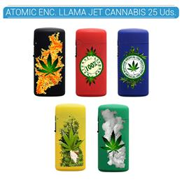 ATOMIC ENC. JET FLAME CANNABIS 25 Uds. 88.00069