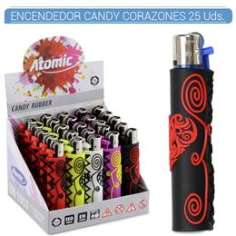 ATOMIC ENC. CANDY RUBBER CORAZONES 25 Uds. 39.08000