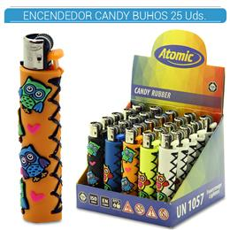 ATOMIC ENC. CANDY RUBBER BUHOS 25 Uds. 39.08007