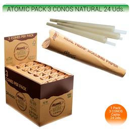 ATOMIC CONOS NATURAL 110 mm. 24 Uds. 04.03001