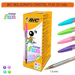 BIC BOLIGRAFO CRISTAL FUN COLORS 20 Uds. 272101