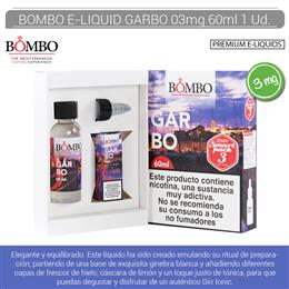 BOMBO E-LIQUID GARBO SMARTPACK 03 mg 60 ml 1 Ud.