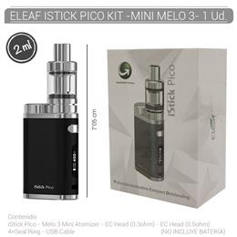 ELEAF ISTICK PICO KIT - MINI MELO 3 BLACK 1 Ud. [311332]