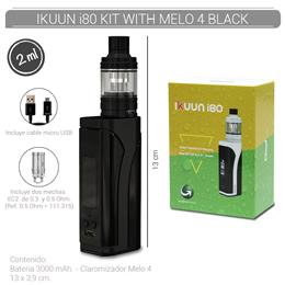 ELEAF IKUUN i80 KIT WITH MELO 4 BLACK (3000 mAh 2 ml TPD EU VERSION) [275416]