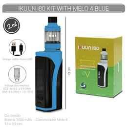 ELEAF IKUUN i80 KIT WITH MELO 4 BLUE (3000 mAh 2 ml TPD EU VERSION) [317068]