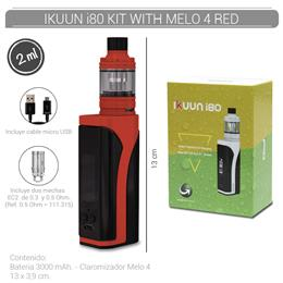 ELEAF IKUUN i80 KIT WITH MELO 4 RED (3000 mAh 2 ml TPD EU VERSION) [275430]