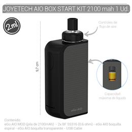 JOYETECH AIO BOX START KIT 2100 mAh BLACK/GREY 1 Ud.  [404453]