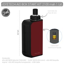 JOYETECH AIO BOX START KIT 2100 mAh BLACK/RED 1 Ud.  [404477]