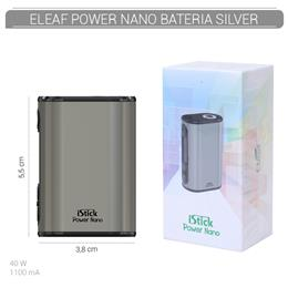 ELEAF BATERIA POWER NANO TC 40W 1100 mAh BRUSHED SILVER 1 Ud. [313688]
