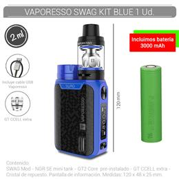 VAPORESSO SWAG KIT 2 ml BLUE 1 Ud. [232592]