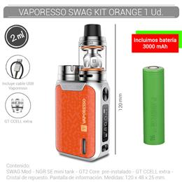 VAPORESSO SWAG KIT 2 ml ORANGE 1 Ud. [232585]