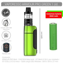 VAPORESSO ARMOUR PRO KIT 2 ml GREEN 1 Ud. 99645051