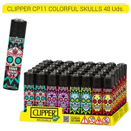 CLIPPER CP11 COLORFUL SKULLS 48 Uds.