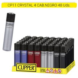 CLIPPER CP11 CRYSTAL 4 CABEZAL NEGRO 48 Uds.