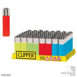 CLIPPER CP12 POCKET COLORES TRANSLUCIDOS 48 Uds.