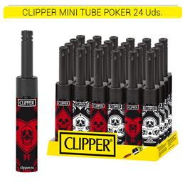 CLIPPER ENC. MTM142 MINI TUBE D24 POKER 24 Uds.