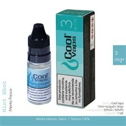 COOL VAPS E-LIQUID MENTA FRESCA 03 mg 10 ml 1 Ud. CV046