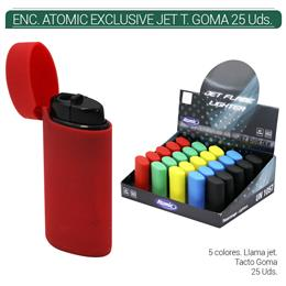 ENCENDEDOR ATOMIC JET TACTO GOMA COLORES 25 Uds. 25.16011