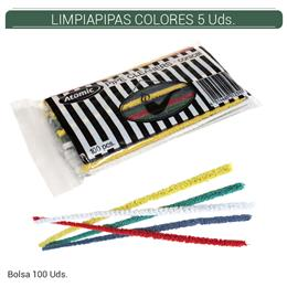 LIMPIAPIPAS ATOMIC COLORES 5 Uds. 01.23205