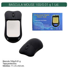 BASCULA ATOMIC MOUSE NEGRA 0.01/100 Gr. 1 Ud. 01.23505