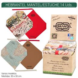 HEBRANTEL MANTEL/ESTUCHE DESPLEGABLE 14 Uds.
