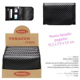BOLSA ATOMIC TABACO ALL BLACK PEQUE 6 Uds. 04.06103