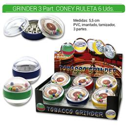 GRINDER 3 Part. CONEY RULETA 6 Uds. 02.12354