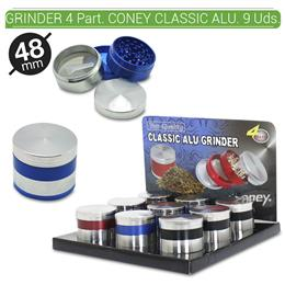 GRINDER 4 Part. CONEY 48 mm. 9 Uds. 02.12347