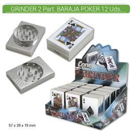 GRINDER 2 Part. CONEY BARAJA POKER 12 Uds. 02.012323