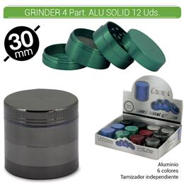GRINDER 4 Part. CONEY METAL ALU SOLID 30 mm. 12 Uds. 02.12440