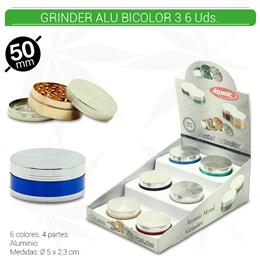 GRINDER 3 Part. ATOMIC ALU BICOLOR 6 Uds. 02.12454