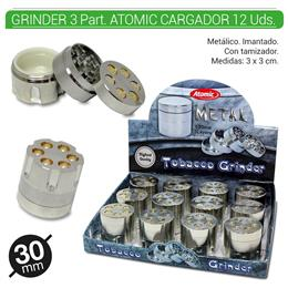 GRINDER 3 Part. ATOMIC CARGADOR 30 mm 12 Uds. 02.12456