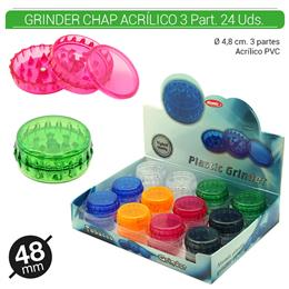 GRINDER 3 Part. ATOMIC CHAP ACRILICO 48 mm 24 Uds. 02.12465