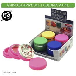 GRINDER 4 Part. ATOMIC SOFT COLORES 4 Uds. 02.12463
