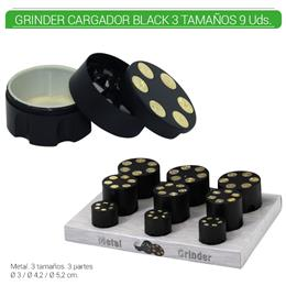 GRINDER 3 Part. ATOMIC CARGADOR BLACK  9 Uds. 02.12473