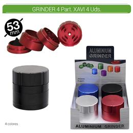 GRINDER 4 Part. ATOMIC XAVI ALU 53 mm. 4 Uds. 02.12482