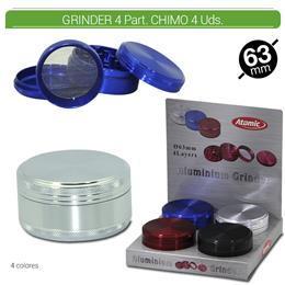 GRINDER 4 Part. ATOMIC CHIMO ALU 63 mm. 4 Uds. 02.12486