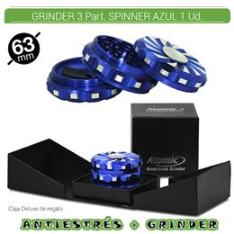 GRINDER 3 Part. ATOMIC PREMIUM SPINNER AZUL 63 mm. 1 Ud. 02.12484