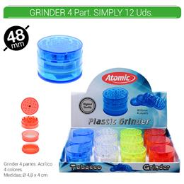 GRINDER 4 Part. ATOMIC SIMPLY 50 mm. 12 Uds. 02.12523