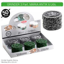 GRINDER 3 Part. MARIA ANTIK 58 mm. 6 Uds. 02.12457