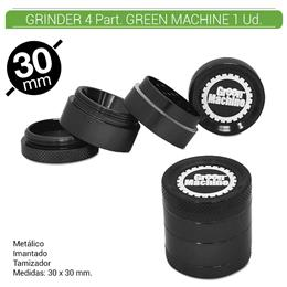 GRINDER 4 Part. GREEN MACHINE BLACK 30 mm. 1 Ud. 16081a [BGR4-30]