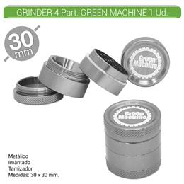 GRINDER 4 Part. GREEN MACHINE SILVER 30 mm. 1 Ud. 16081e [BGR4-30]