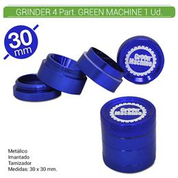 GRINDER 4 Part. GREEN MACHINE BLUE 30 mm. 1 Ud. 16081b [BGR4-30]
