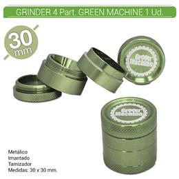 GRINDER 4 Part. GREEN MACHINE GREEN 30 mm. 1 Ud. 16081c [BGR4-30]