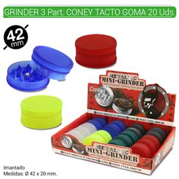 GRINDER 2 Part. CONEY TACTO GOMA 42 mm. 20 Uds. 02.12419