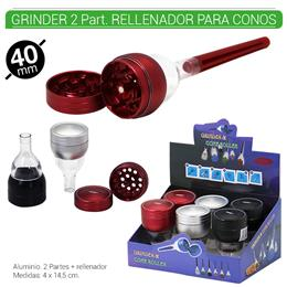 GRINDER 2 Part. + RELLENADOR PRINCE 40 mm. 6 Uds. 02.12480