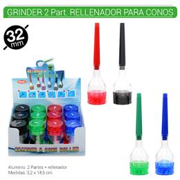 GRINDER 2 Part. + RELLENADOR ATLANTA 32 mm. 12 Uds. 02.12481