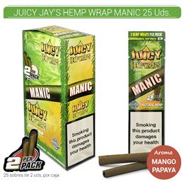 JUICY JAY´S HEMP WRAP MANIC MANGO 25 Uds.9902264