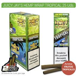 JUICY JAY´S HEMP WRAP TROPICAL 25 Uds.9902263