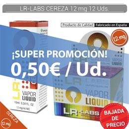 LR-LABS E-LIQUID CEREZA 12 mg 12 Uds.